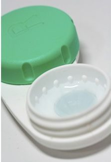 Contact Lens Case examined during a contact lens specialist consultation