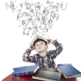 Child who requires a dyslexia eye sight test