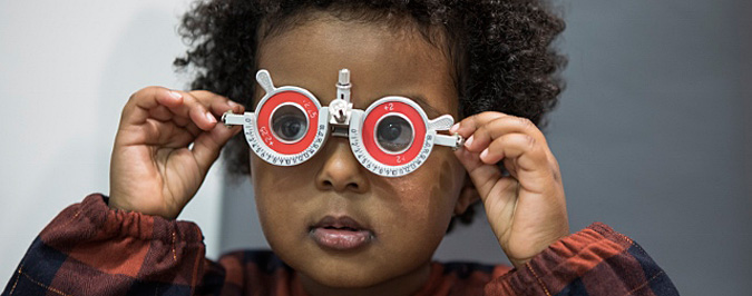 A children's eye sight test in our London practice