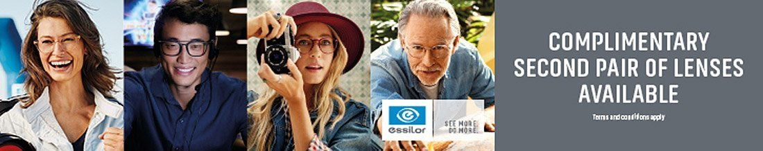 Essilor Complimentary Second Pair of Lenses Offer
